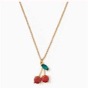 Kate Spade cherry necklace